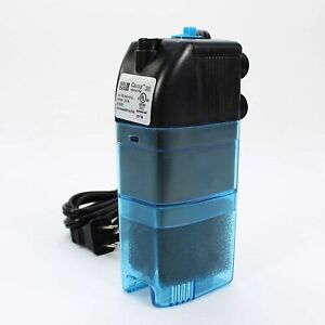 Penn Plax Cascade 300 Submersible Aquarium Filter Cleans Up to 10 Gallon Fish