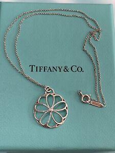 Tiffany & Co Petals Medallion Pendant In Silver With A Diamond