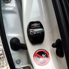 Black Steel Door Strikers Lock Buckle Cap Protective Cover For Chevrolet Equinox