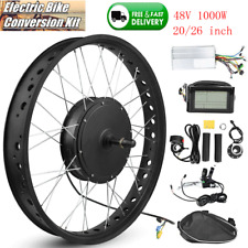 Electric Bike Bicycle 48V 1000W Hub Motor Conversion Kit 20/26inch Wheel Parts❤V