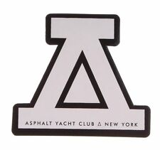 "Asphalt Yacht Club Logo 4"" White Sticker"