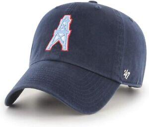 Houston Oilers '47 Brand Throwback Logo Clean Up Adjustable Hat - Navy