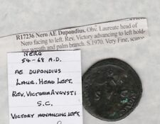 More details for nero roman 54 to 68 a.d. bronze dupondius in a used condition