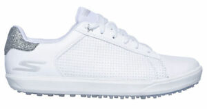 Skechers Womens GO Golf Drive-Shimmer Golf Shoes 14882 WSL White/Silver New