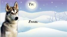 Siberian Husky Dog Christmas Labels by Starprint