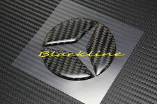 FOR 15+ Mercedes C Class W205 Carbon Fiber Trunk Star Emblem Decal AMG C300 C400