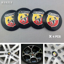 4X Fit ABARTH Scorption WHEEL CAPs Alloy EMBLEM Badges Stickers 56mm NEW 3D