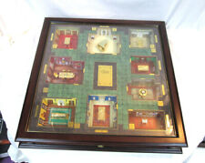 3D Rare Franklin Mint Luxurious Wooden & Glass Collector's Ed. Clue Board Game