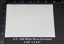 A-2 24lb White Wove Square Flap Economy Accouncement Envelopes - 1000 Envelopes