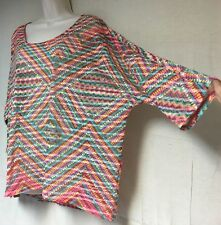 Colorful & Cute Women's Plus Size 3X Stretchy Coldwater Creek Brand Sheer Top