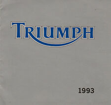 1993 Triumph Motorcycles Sales catalogue Tiger, Daytona, Trident & Trophy