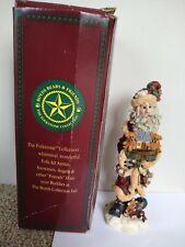 Boyds Bears Santa Folkstone w Ark Nick Noah 1st Edition Retired #2806 1995 Box