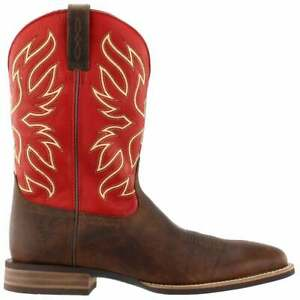 Ariat Everlite Vapor Embroidery Square Toe   Mens  Boots   Mid Calf  - Red -