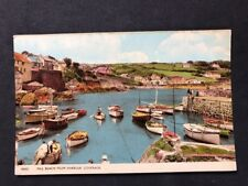 Vintage Real Photo Postcard #TP329: Mill Beach From Harbour, Coverack: 1961