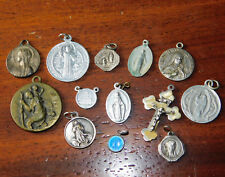 LOT ancien medaille ST miraculeuse TERESIA lourdes MARIE vierge MEDAL einsiedeln