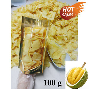 Fried Durian Chips Monthong Thailand Fruit Exotic Healthy Snack Vegan 100g