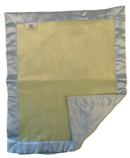 SILKY! by Cherish & Joy NWOT Lovey Security Blanket Green Blue Satin Soft NEW
