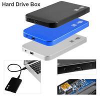 "Ultra Thin 2.5"" USB3.0 SATA SSD HDD Hard Drive Case Aluminum Enclosure Box"