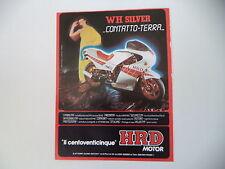 advertising Pubblicità 1985 MOTO HRD 125 WHSILVER