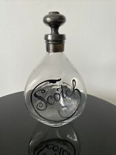 Decanter Bottle Silver Overlay Style Decanter Scotch Rare Must See
