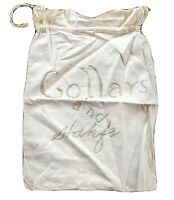 """Vintage Hand Embroidered Laundry and Clothes Bag Collars & Hdkfs 11 x 17"""""""