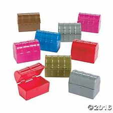 9 Pirate Party Favors Mini TREASURE Chests Trinket Boxes Kids Birthday Gifts