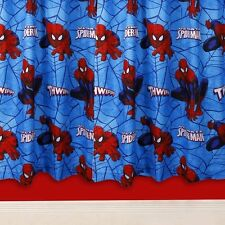 "Spiderman Ultimate City 54"" Drop Curtains Kids Bedroom Official"