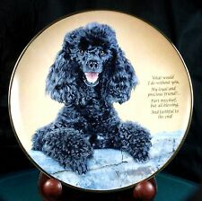 Cherished Poodles - Loyal And Precious - Danbury Mint - Excellent Condition