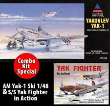 Accurate Miniatures 1/48 Yakovlev Yak-1 Kit #3423 *Factory Sealed* w/ S/S Book
