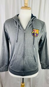 NWOT FC Barcelona Jacket Hoodie Mens Full Zip Barça FCB Lightweight Medium