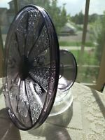 VERY RARE! Antique EAG Purple Amethyst Antique GLASS Cake Stand! GORGEOUS!!!!!!!