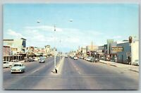 Mesa Arizona~Main Street~Vita Gro Feeds~Barrows~Apache~1950s Cars~Motorcycle