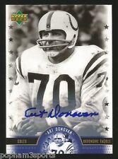 ART DONOVAN Signed/Auto 2005 UPPER DECK UD LEGENDS Card CERTFIED Colts HOF