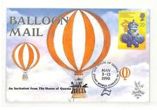 BK157 1990 GB Balloon Mail House of Questa Cover PTS
