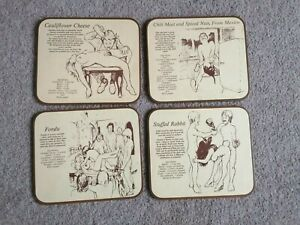 Collectable bad taste signs / place mats sexual positions funny humourous rude