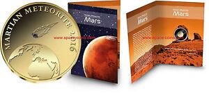2016 Chad, Martian Meteorite, 3000 Francs, Gold! Mars Meteorite, Goldcoin