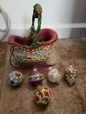 """Jim Shore's Heartwood Creek Collection: """"Sleigh Bells Ring"""" Figure w/ Ornaments"""