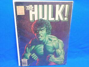 THE HULK MAGAZINE # 24 CLASSIC JOE JUSKO LOU FERRIGNO COVER & FEATURE
