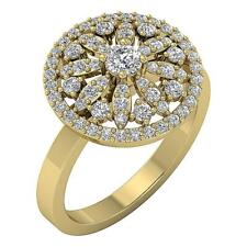 I1 G 1.15 Ct Round Diamond Right Hand Wedding Ring Yellow Gold Prong Set 16.20Mm
