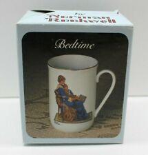Norman Rockwell Tc5 Collectible Porcelain Mug Bedtime
