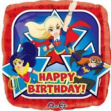 "18"" DC SUPER HERO GIRLS HELIUM FOIL BALLOON SUPERGIRL/BATGIRL/WONDER WOMAN 33224"