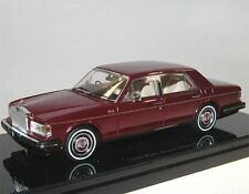 TrueScale TSM Model 1980 Rolls-Royce Silver Spirit Limousine dark red 1/43