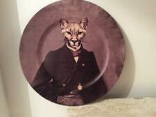FAUX LEATHER 'GENTLEMAN CAT' CHARGER PLATE / WALL PLAQUE..NEW.