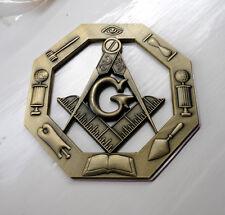 ZPL Masonic Masons LARGE badge with G Geometry Freemason Square Compass Tools
