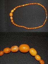 Halskette echter Honig-Bernstein, Länge 56cm, 30,04g sehr guter Zustand