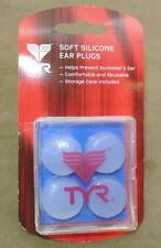 New TYR Soft Silicone Moldable Ear Plugs w/ Case Prevents Swimmer's Ear Swim