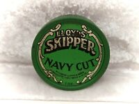 Vintage British Tobacciana-Tobacco Tin- Lloyd's Skipper Navy Cut-Green