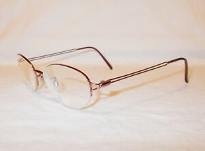 Anne Klein Eyeglass Frames  9026 K1068  Pink Half Rims  50[]18-135 Beautiful EUC