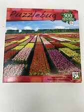 Puzzlebug Field Of Tulips Netherlands Jigsaw Puzzle 500 Pc SEALED 18.25 x 11
