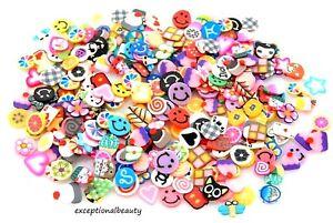 1000 Bulk Tiny Assorted Glue On Fingernail Stickers Fruits Flowers Animals Smile